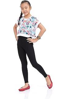 hi!mom Girls Cotton Leggings Kids Pants Plain Full Length Children Trousers Age 2-13