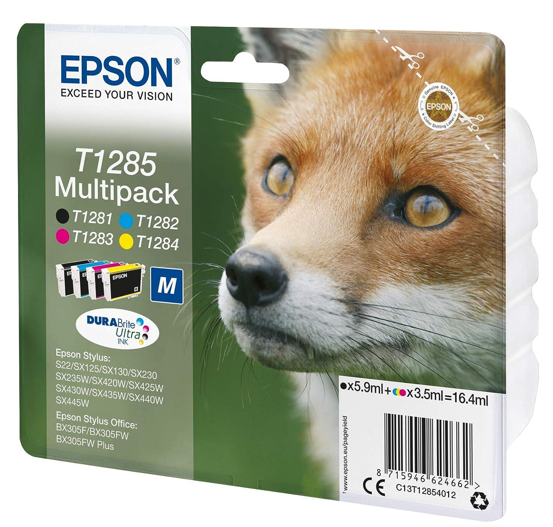Epson C13T12854022 - Cartucho de tinta, multi-pack (negro, amarillo, magenta, cian)