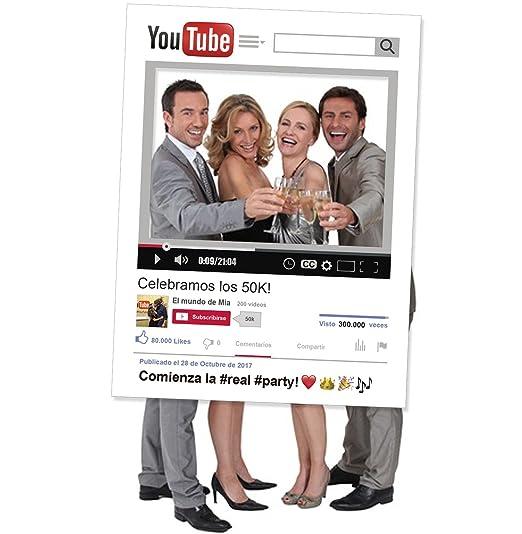 Marco Photocall youtube personalizado 90x120cm. Cartón 4mm.: Amazon.es: Hogar