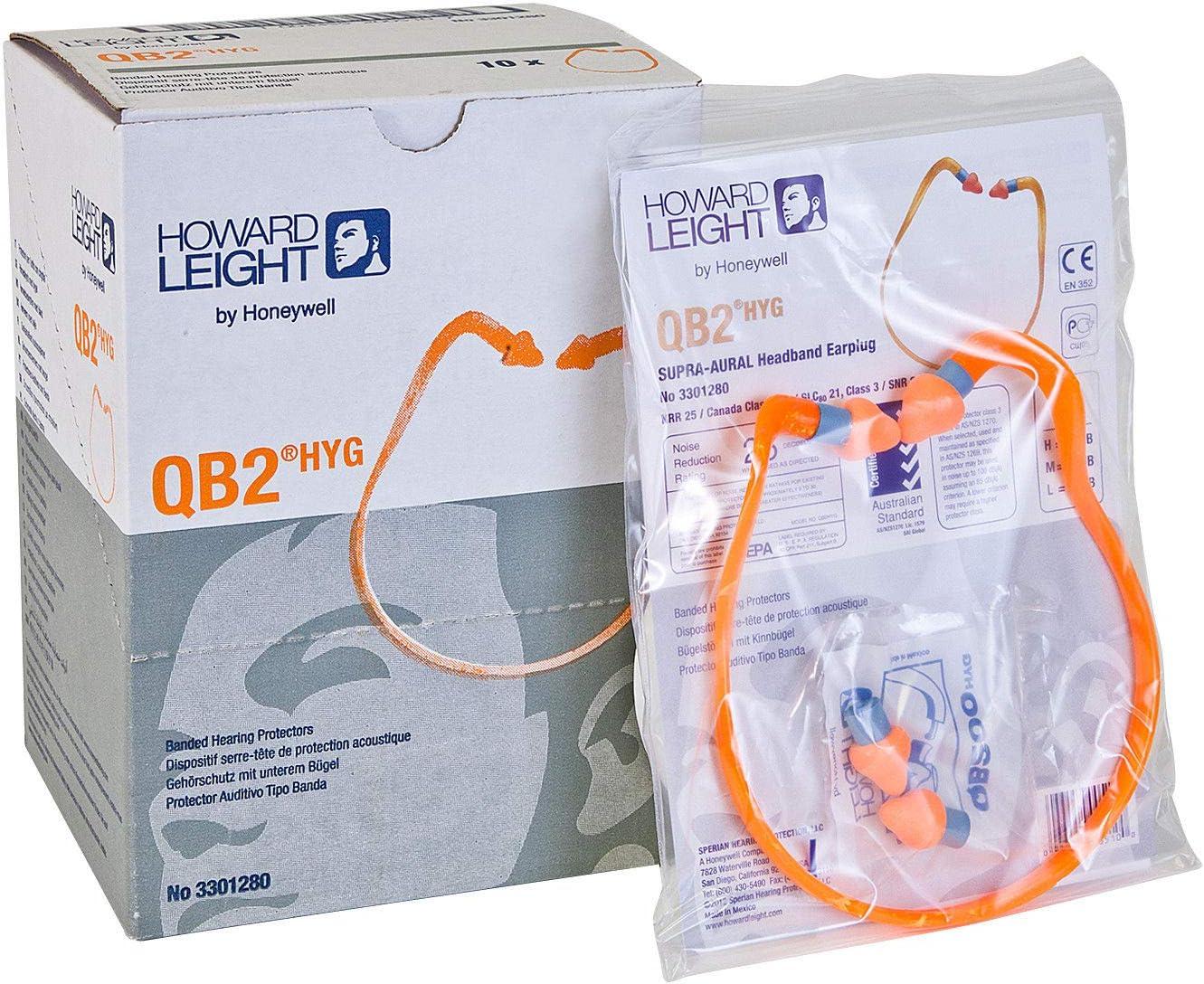 Howard Leight by Honeywell QB200HYG QB200HYG Replacement Multi-Use Plugs 25NRR Orange 50 Pairs