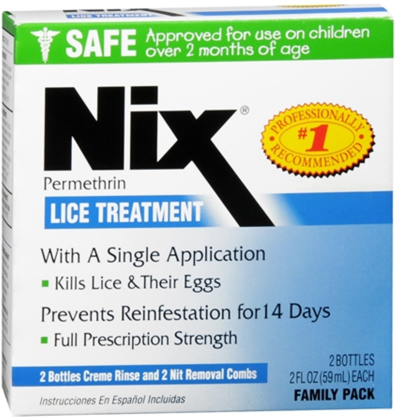 Nix Lice Treatment Family Pack 4 oz (Pack of 12) by NIX