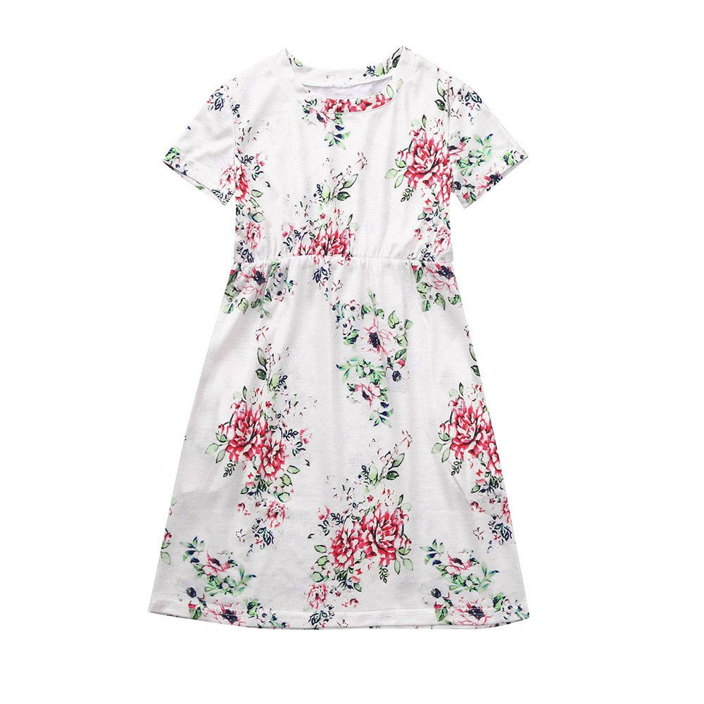 Toddler Baby Girls Floral Dress Kids Party Beachwear/ Dresses Outfits Sundress SamMoSon Kids Beautiful Dress