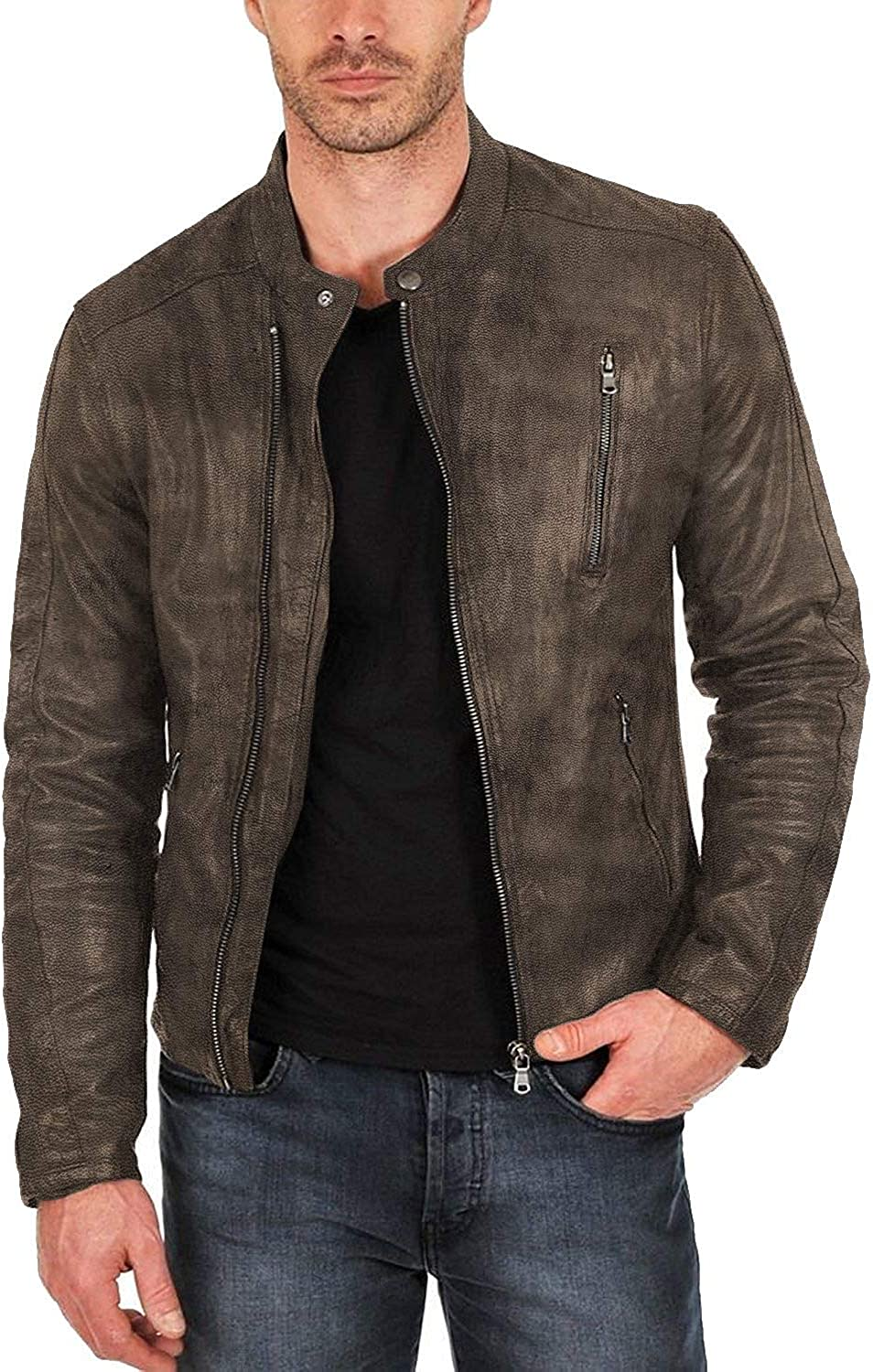 Laverapelle Mens Genuine Lambskin Leather Jacket Black, Classic Jacket 1501159