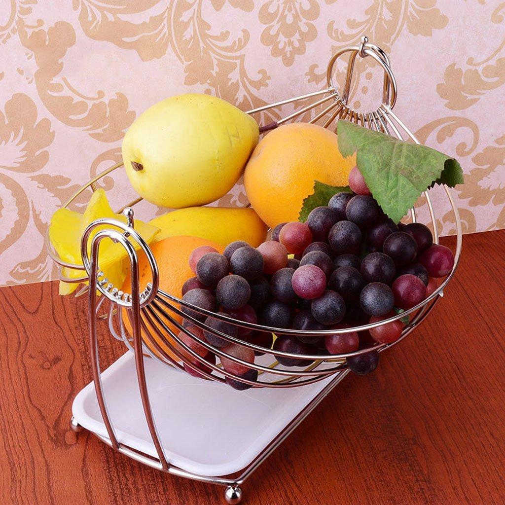He Xiang Ya Shop Stainless steel drain rack living room fruit plate vegetable drain basket snack cradle by He Xiang Ya Shop (Image #2)