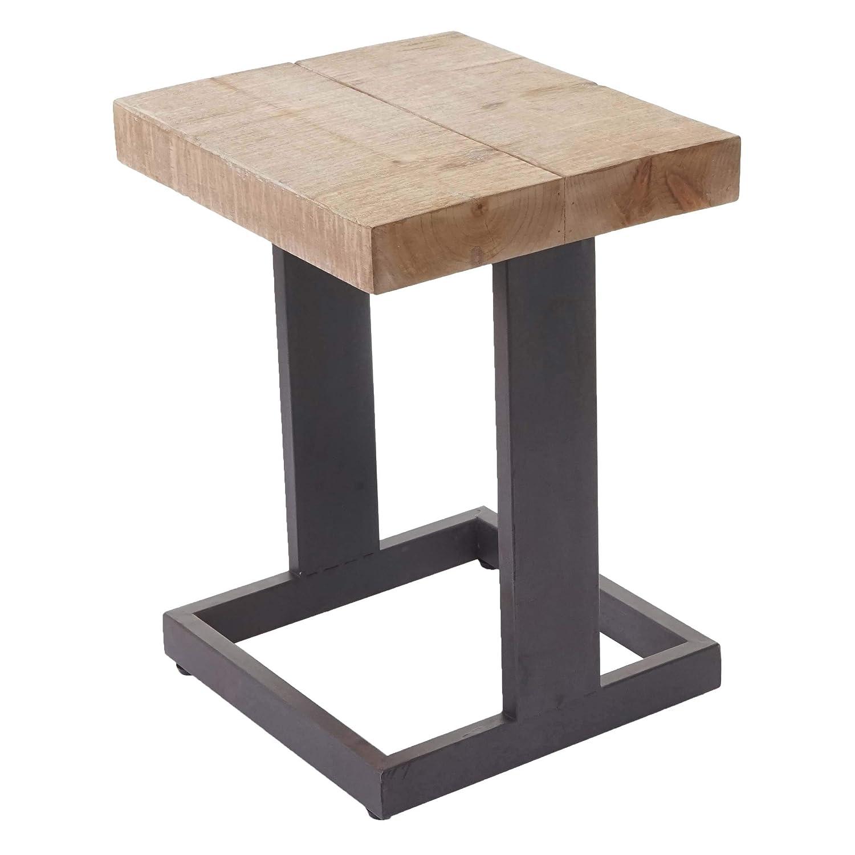 Mendler Mendler Mendler Sitzhocker HWC-A15, Hocker Fußhocker Holzhocker, Tanne Holz rustikal massiv 48x36x32cm d0e274