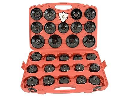 31 Llaves Para Extraer Filtros De Aceite Retiro Tapa Coche Garaje Conjunto de herramientas Tipo