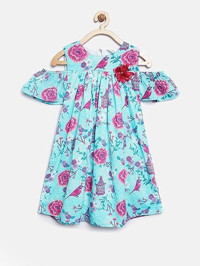 4493b41297024 Sera kids western wear Cold Shoulder dress: Amazon.in: Clothing &  Accessories