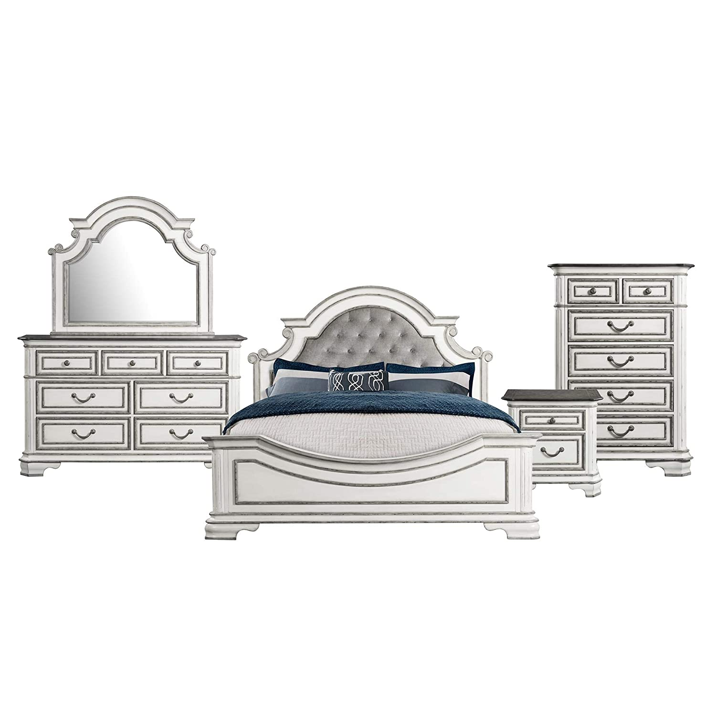 Picket House Furnishings Caroline 5 Piece King Panel Bedroom Set
