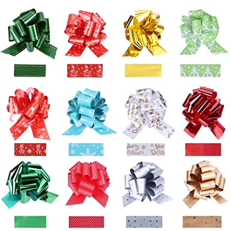 Silver Snowflake Cellophane Christmas Hamper Gift Wrap FREE Ribbon Pull Bow