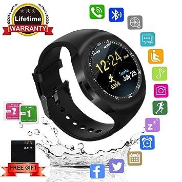 Kindak Smartwatch,Impermeable Reloj Inteligente Redondo con Sim ...