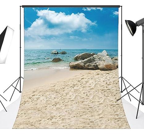 Love Baby Vinyl 5x7ft150x210cm Spiaggia Di Sabbia Mare Sfondi