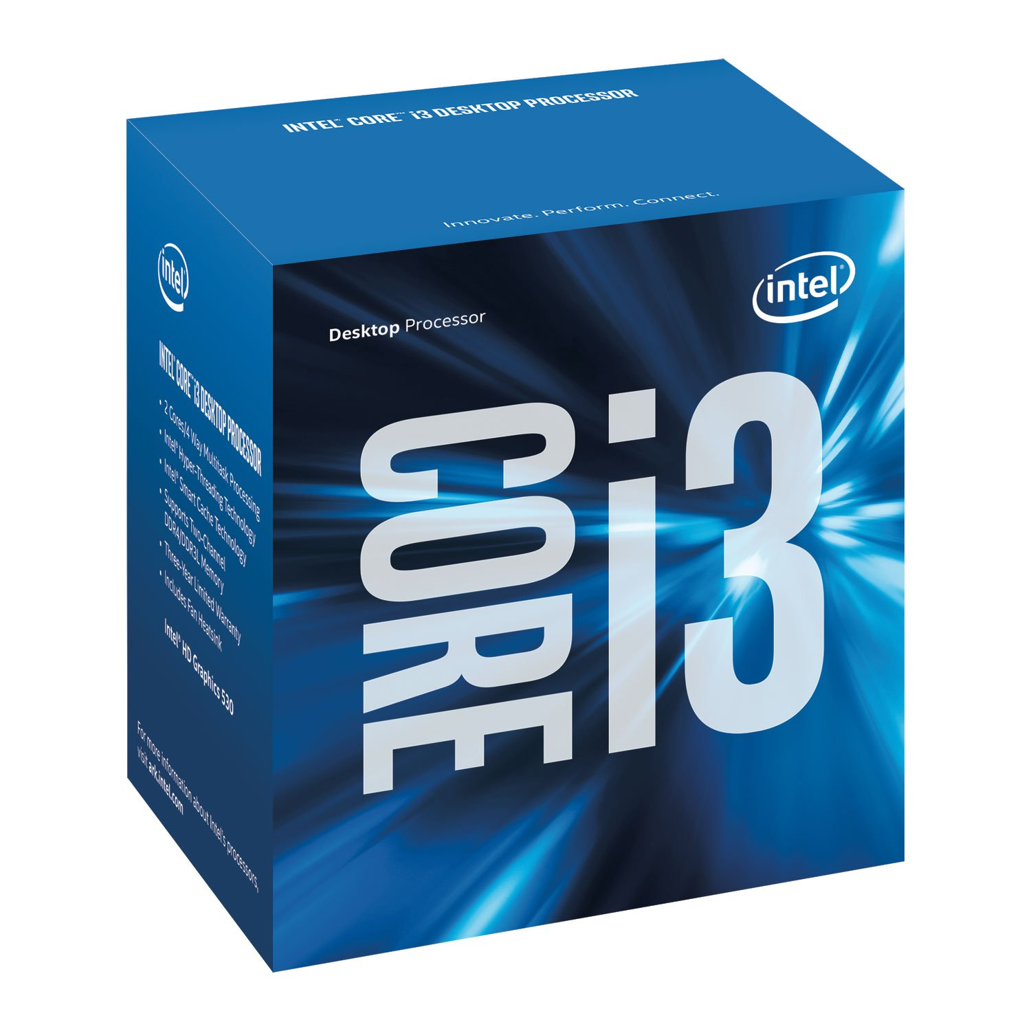 Intel 3.70 GHz Core i3-6100 3M Cache Processor (BX80662I36100) by Intel