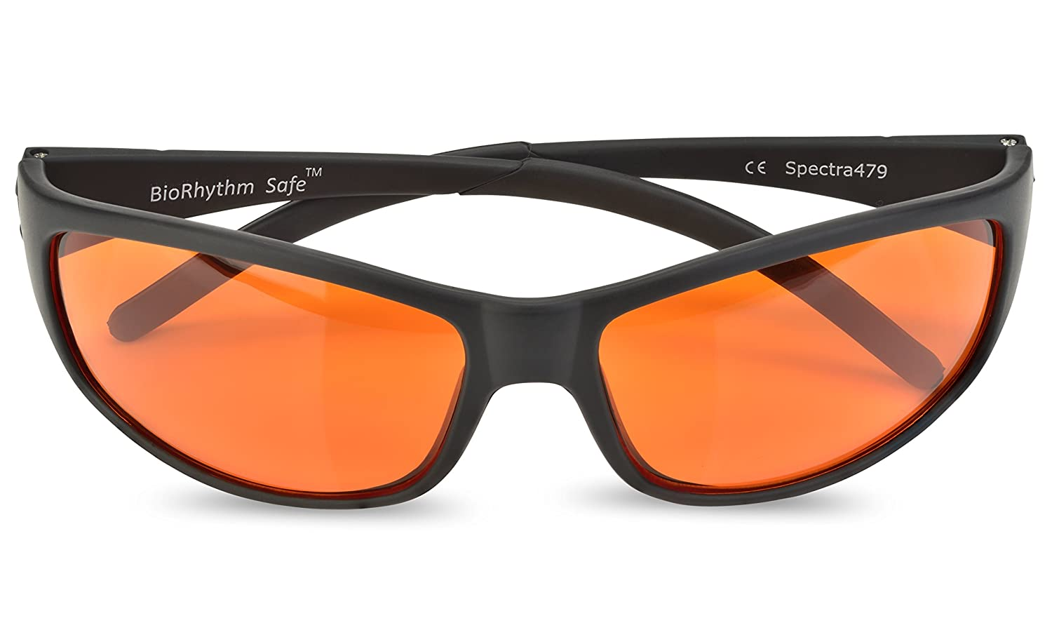a30137b1eb Amazon.com  Blue Blocking Amber Glasses for Sleep - BioRhythm Safe(TM) -  Nighttime Eye Wear - Special Orange Tinted Glasses Help You Sleep and Relax  Your ...