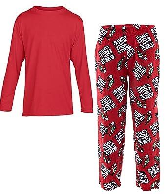 fun boxers mens holiday loungewear pajama pants with top shirt elf made me do it