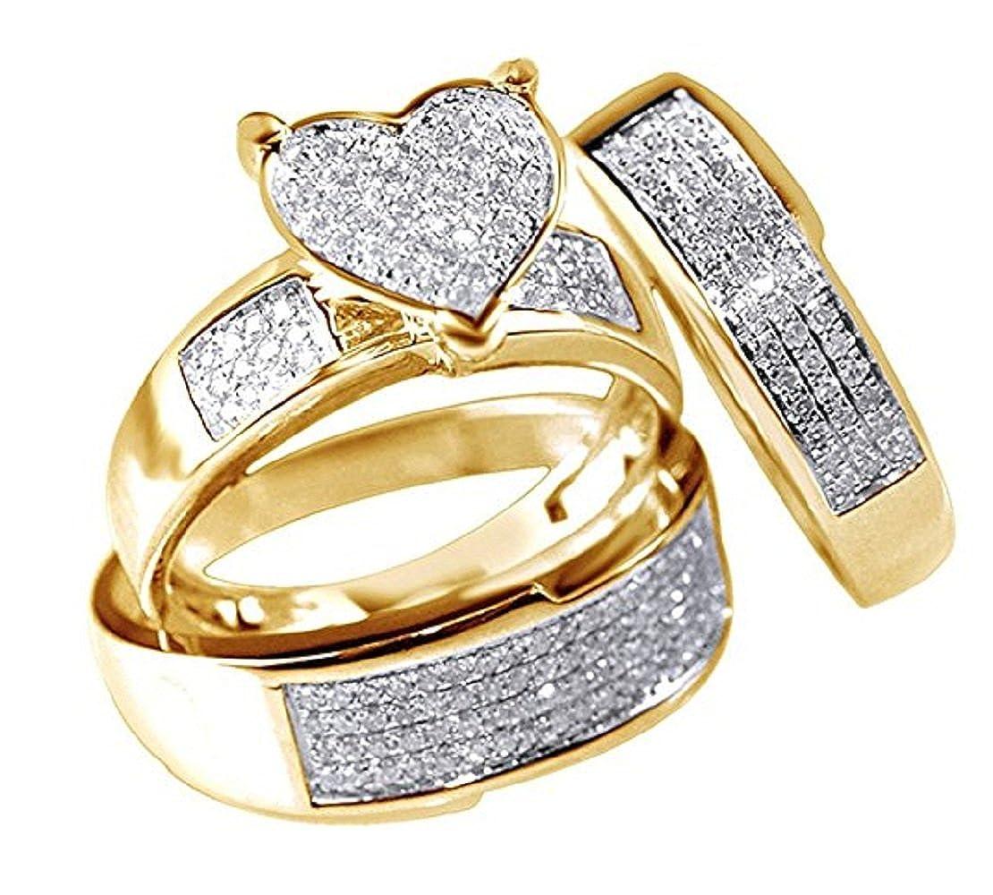 Amazon.com: nisiddh Inc blanco simulado diamante en forma de ...