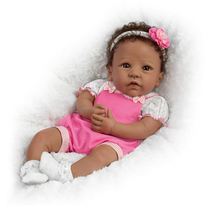 The Ashton-Drake Galleries Linda Murray Weighted African American Silicone Baby Girl Doll: Ashton-Drake