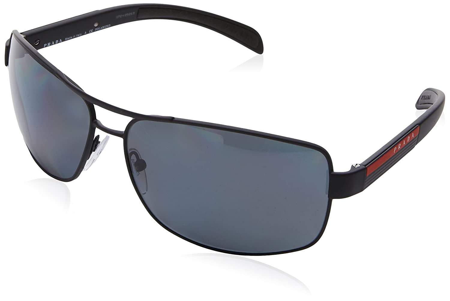 ddcf26dd605 Prada Linea Rossa Men s PS 54IS Sunglasses 65mm at Amazon Men s Clothing  store