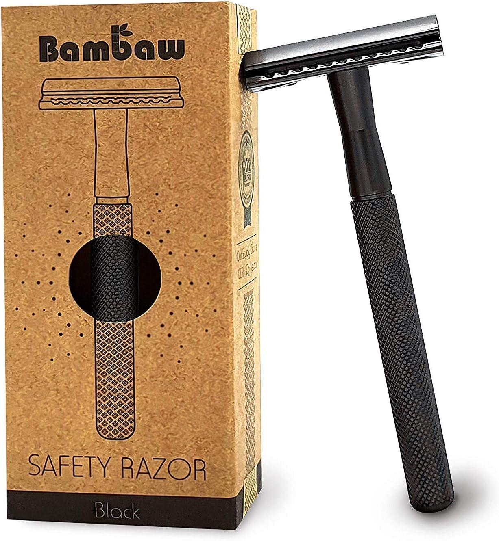 Maquinilla de Afeitar Clásica Color Negro   Maquinilla de Afeitar para Hombre   Cuchilla de Afeitar   Compatible con Todas las Hojas de Afeitar   Productos Ecológicos   Maquinilla de Afeitar   Bambaw