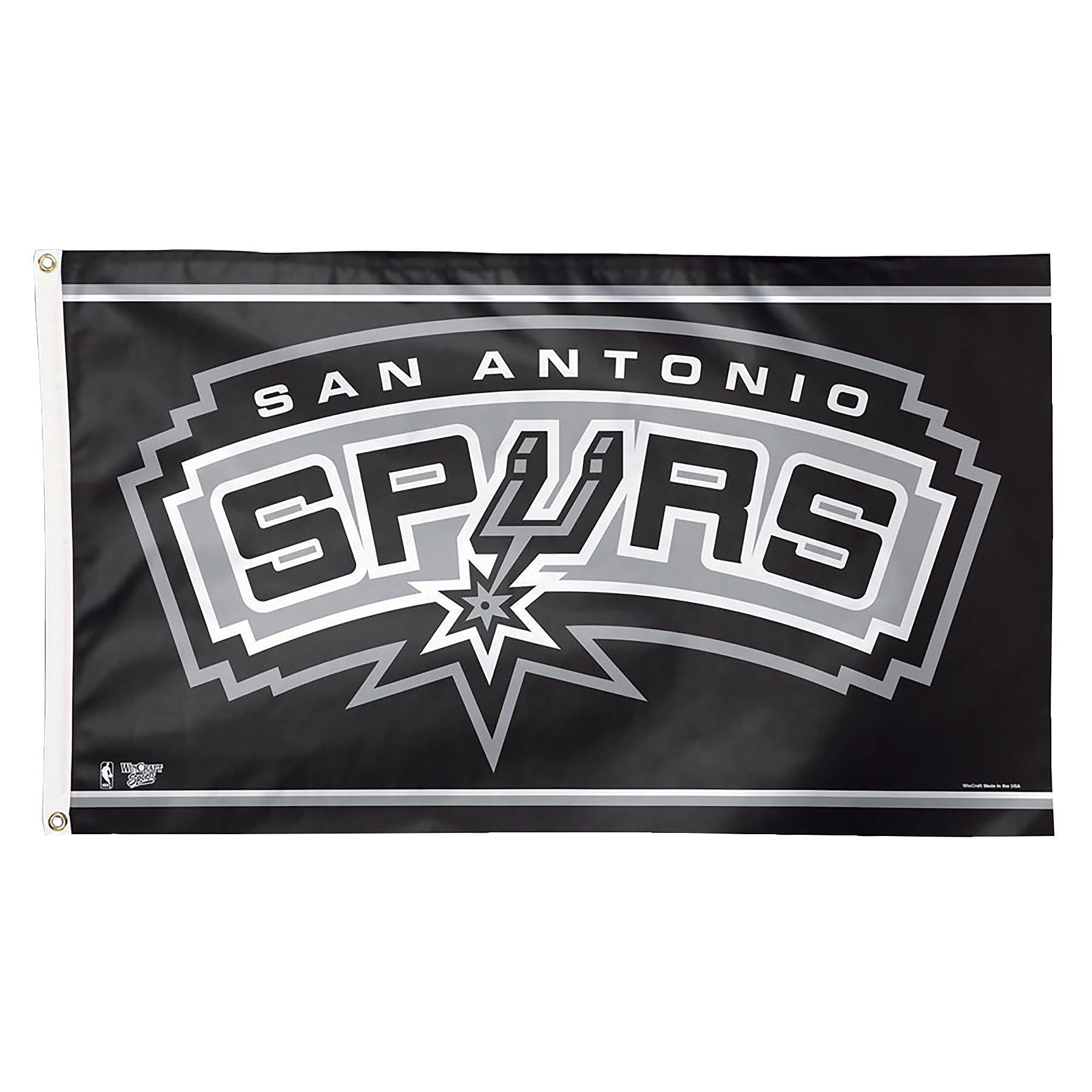 WinCraft NBA San Antonio Spurs Deluxe Flag, 3 x 5', Multicolor