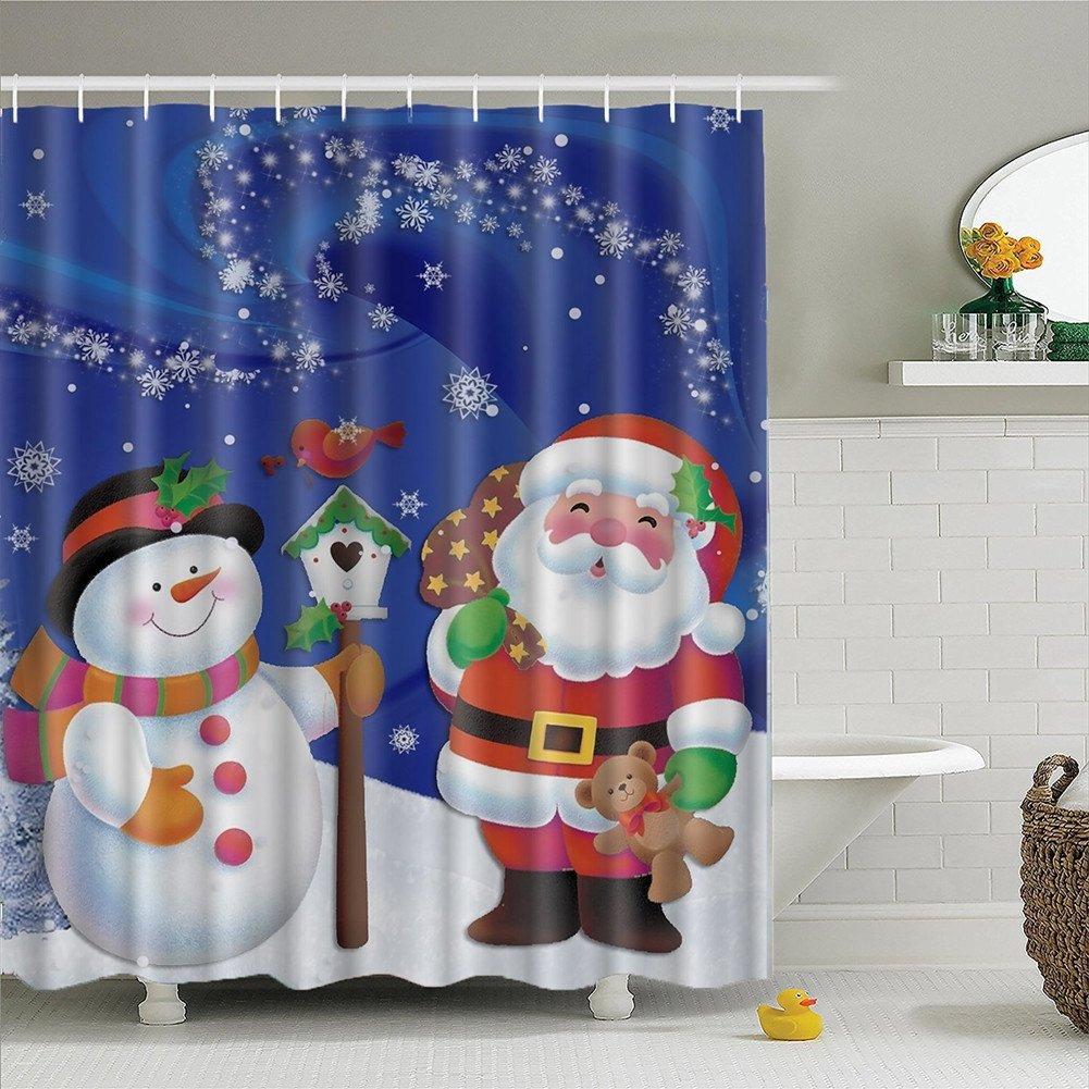 fanjow® Weihnachten Duschvorhang Polyester Fashion Dusche ...