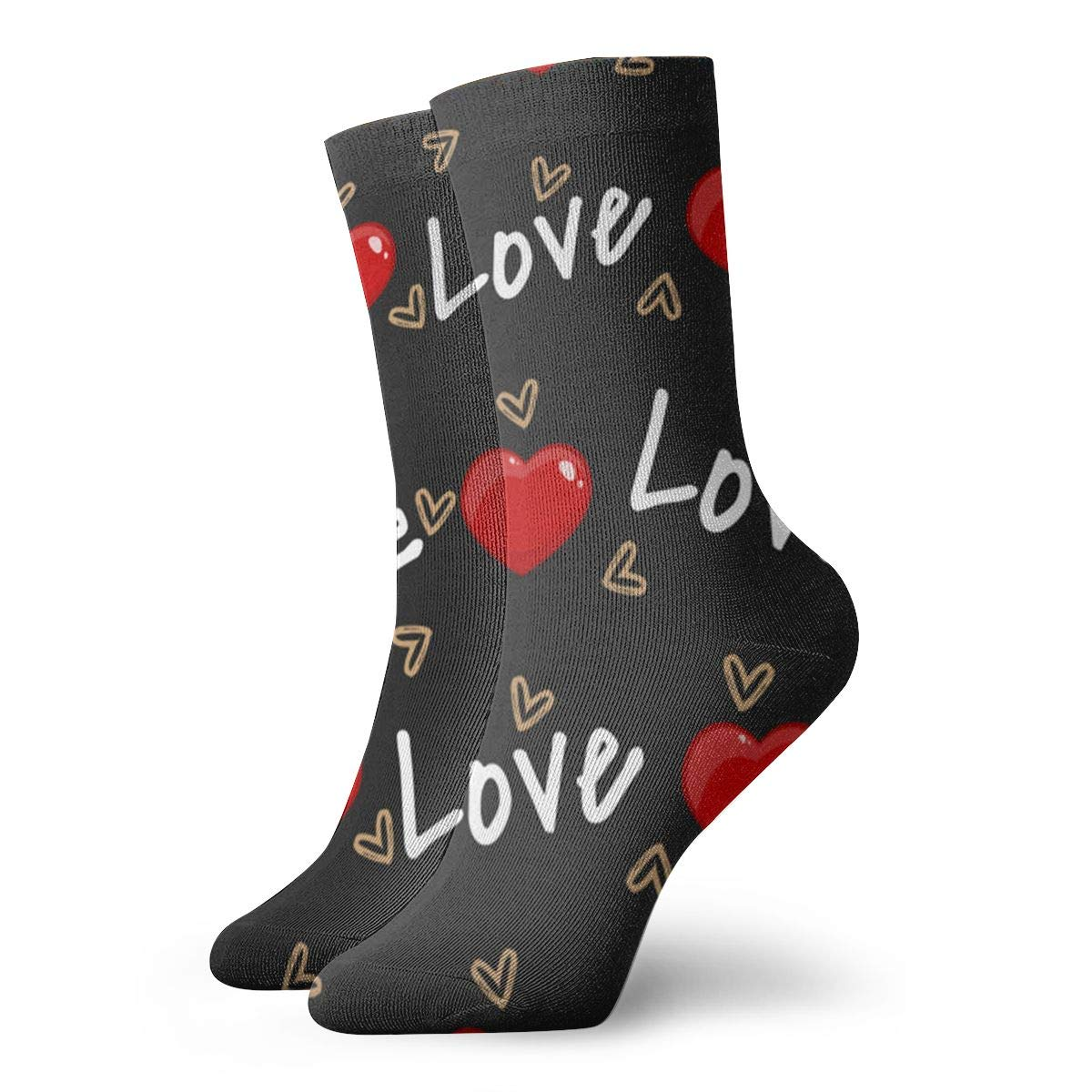 Valentines Day Unisex Funny Casual Crew Socks Athletic Socks For Boys Girls Kids Teenagers