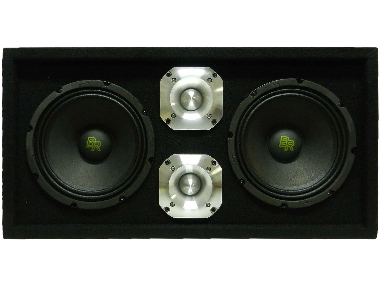2 x 8 Midrange Speakers /& 2 x 1.5 Bullet Tweeters Loaded 1300W Speaker Pod Box