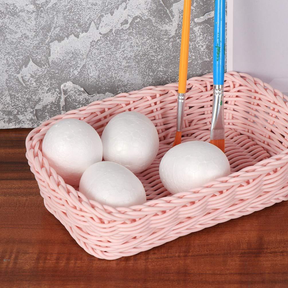 per bambini ornamento per feste in schiuma per dipingere le uova 50 uova in schiuma bianca fai da te Amosfun