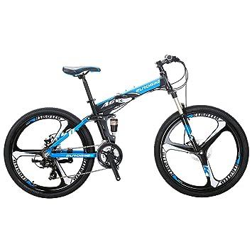 Eurobike Bicicleta de montaña con marco de aluminio de 21 ...