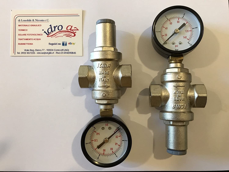 R/éducteur de pression pour 1//2/F-f eau avec manom/ètre fabriqu/é en italie