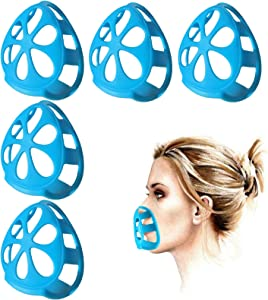 Upgraded KRR Silicone Face Mask Bracket for Comfortable Breathing Face Inner Support Frame to Realease Your Mouth and Speak Freely Adult 3D Mask Brackets 5PCS