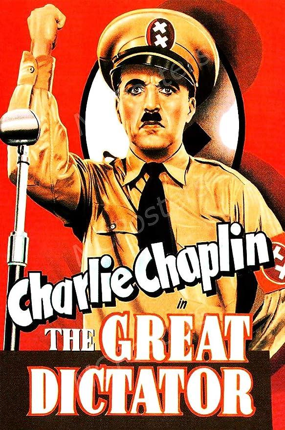 Amazon.com: MCPosters - Charlie Chaplin The Great Dictator Glossy ...