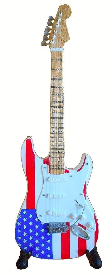 Guitarra eléctrica Strat US de ferrocarril – Madera barnizado – Objeto de decoración – regalo