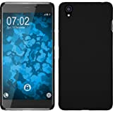PhoneNatic Custodia Rigida per OnePlus X - gommata nero - Cover pellicola protettiva