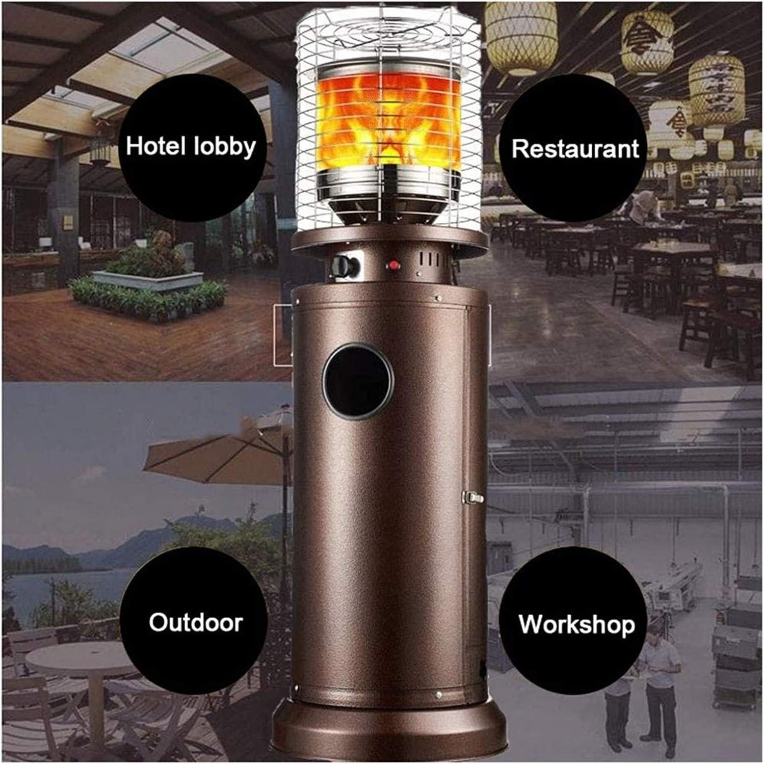 Lazy Style - Calefactor de gas para exteriores (forma de bala ...
