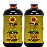 "Tropic Isle Living Jamaican Black Castor Oil 8oz""Pack of 2"""