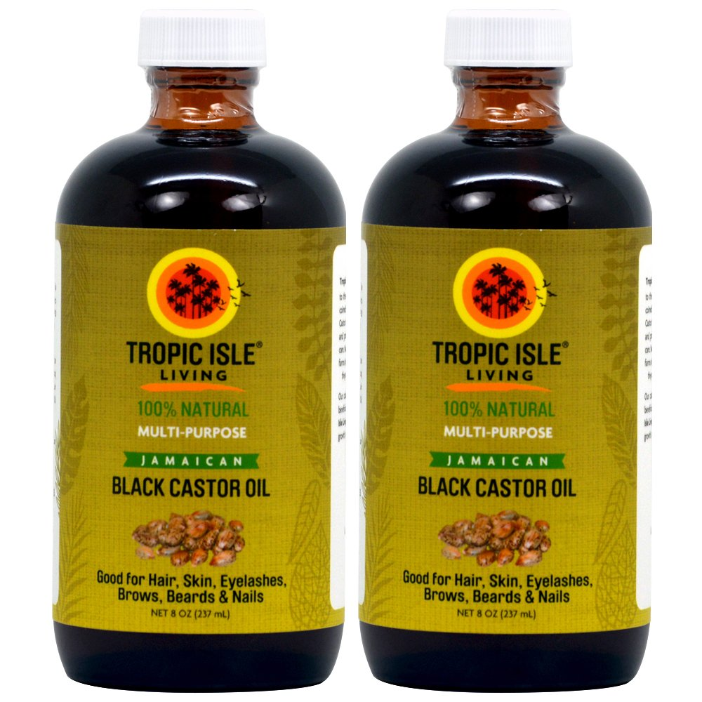 Tropic Isle Living Jamaican Black Castor Oil 8oz ''Pack of 2'' by Tropic Isle Living