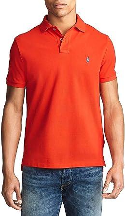 Polo Ralph Lauren Basic Rojo para Hombre Small Rojo: Amazon.es ...