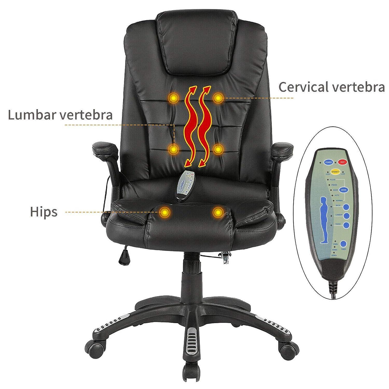 Amazon.com: Executive Massage Silla de oficina con ...