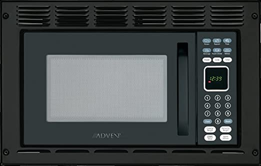 Advent MW912BWDK Black Built-in Microwave Oven with Wide Trim Kit PMWTRIM, Specially Built for RV Recreational Vehicle, Trailer, Camper, Motor Home ...