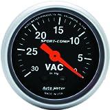 Auto Meter 3384 Sport-Comp Mechanical Vacuum Gauge, Regular, 2.3125 in.