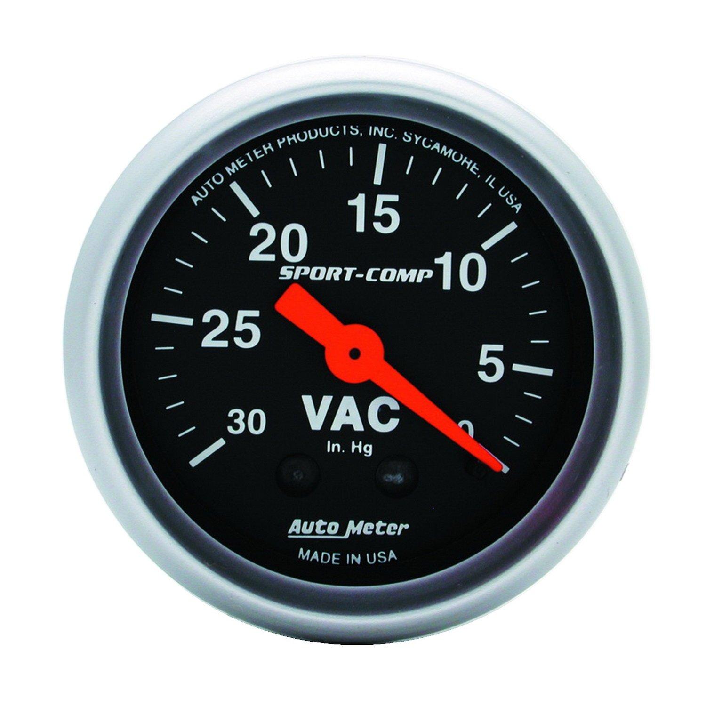 Auto Meter 3384 Sport-Comp 2-1/16' Mechanical Vacuum Gauge