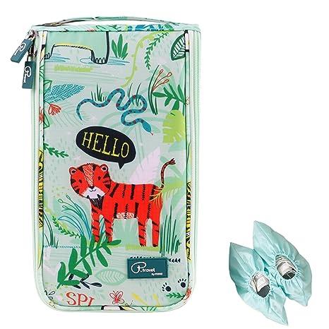 Tuscall Bolsas para Zapatos Portátiles Bolsa de Almacenamiento de Zapatos Viaje Impermeable con Cremallera Accesorios de Viaje para Mujeres