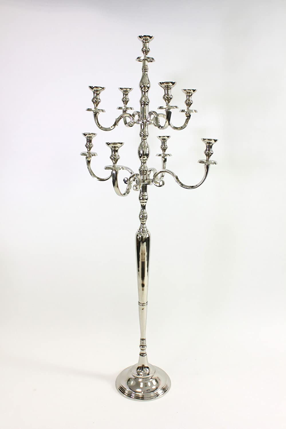 Heavy XXL Candle Holder Silver 180cm Candelaber Candle holders Baroque Antique DAFLOXX