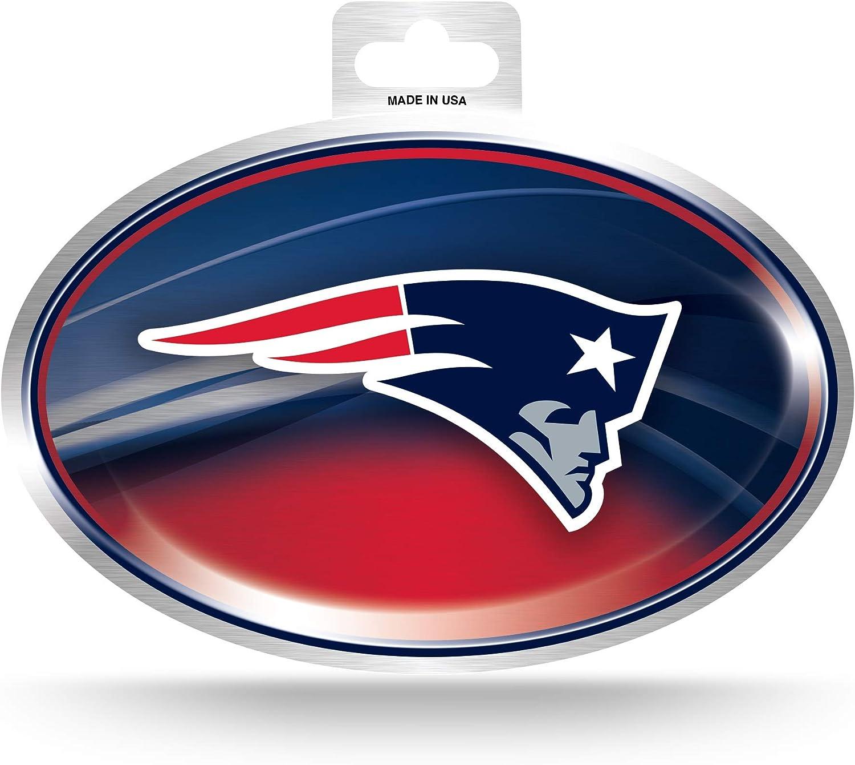 Nfl New England Patriots Metallic Team Logo Aufkleber Bekleidung