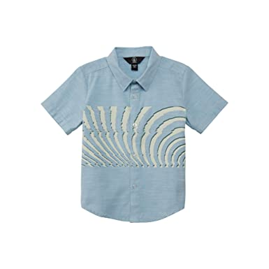 5763e542 Amazon.com: Volcom Boys' Little Blocked Short Sleeve Button Up Woven Shirt  Youth: Clothing