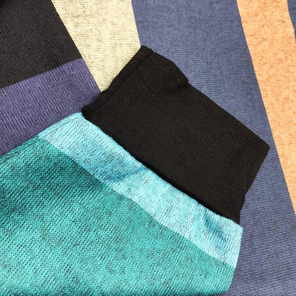 ROSRISS Womens Plus Size Long Sleeve Tunic Crewneck Colorblock Striped Tee Shirt