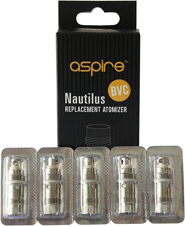 recambio Bobinas 5 Pack 1.8ohms Inferior Vertical Bobina Genuine Aspire Nautilus Serie BVC