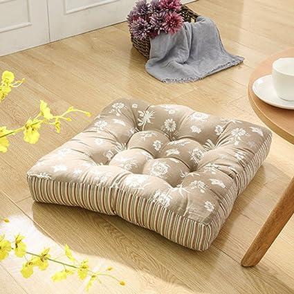 Amazon.com: TMJJ Cotton & Linen Floor Pillow Cushion Japanese Futon ...