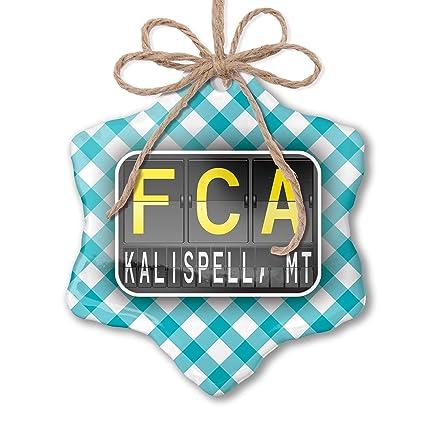 Amazon com: NEONBLOND Christmas Ornament FCA Airport Code