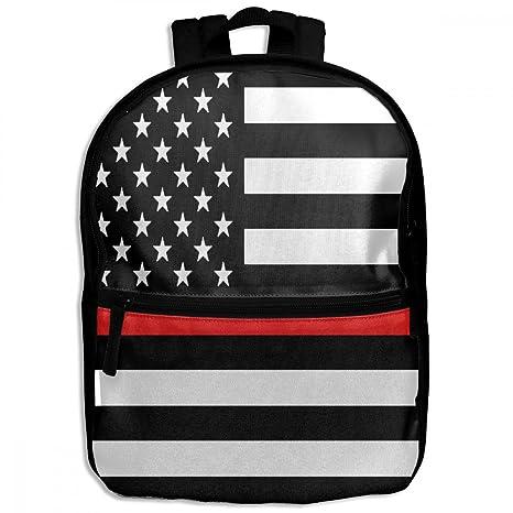 ChunLei Child School Bag Firefighter Black Red Line Flag Cool Kids Travel  Backpack Students Backpacks Girls aa457ad0ba
